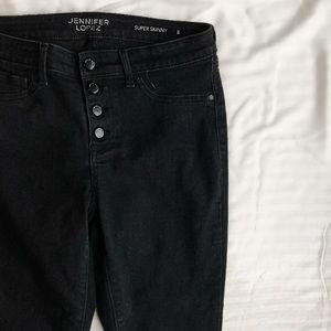 Jennifer Lopez Black Skinny Jeans